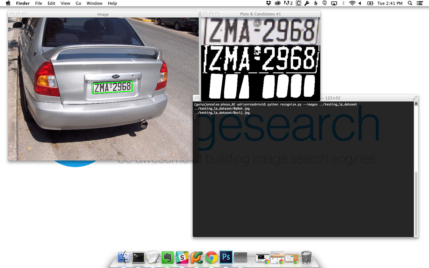 Figure 10: Detecting the license plate in the image, followed by extracting character regions from the license plate.