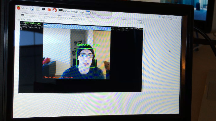 Figure 4: Detecting my face in a video stream.